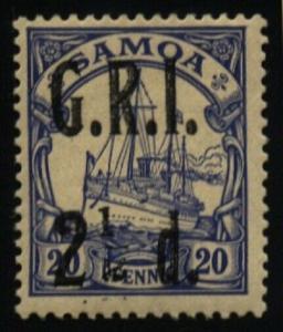 SAMOA 1914 GRI opt on German Samoa : 2½d on 20pf I TO LEFT OF 2 fine mint..66369