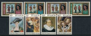 St. Lucia #434-41*  CV $3.70