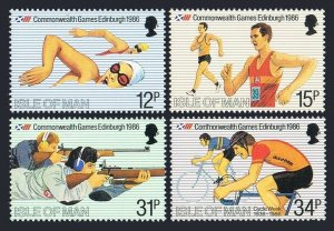 Isle of Man 297-300,MNH.Michel 298-301. Commonwealth Games 1986.Swimming,Walking