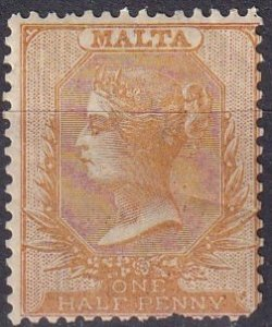 Malta #3b F-VF Unused  CV $450.00  (Z1636)