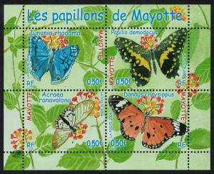 Mayotte Butterflies MS SG#MS200