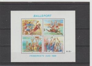 Norway  Scott#  934  MNH  S/S  (1988 Stamp Day)