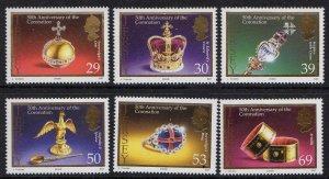 2003 Jersey 1087-1092 50 years of the coronation of Elizabeth II Golden Jubilee