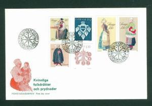 Sweden. FDC Cachet 1979 Christmas Stamps National Costumes. Engr: Morck-Franzen