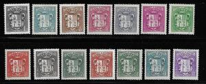 Andorra French 65-77 Arms set MLH (BB)