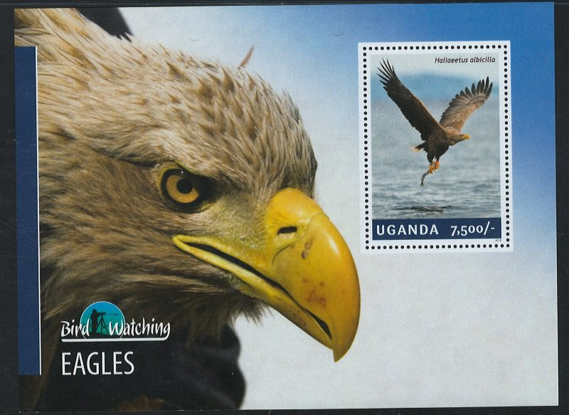 Uganda Scott 2128 MNH! Eagles! Souv. Sheet!