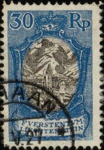 LIECHTENSTEIN - 1925 - Mi.64 very fine used SCHAAN 1927 date stamp