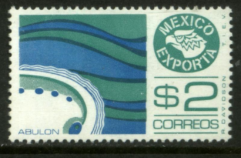 MEXICO Exporta 1170, $2P Abalone Wmkd Fosforescent Paper 2 MINT, NH. VF.