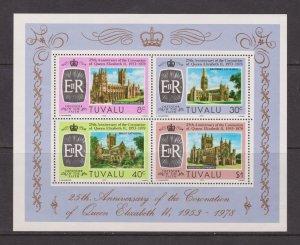Tuvalu MNH S/S 93 25th Anniversary Coronation QE II 1978