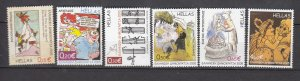 J26425  jlstamps 2005 greece set mnh #2206-11 art designs, all checked