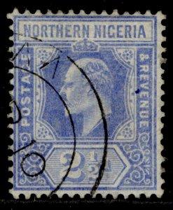 NORTHERN NIGERIA EDVII SG31, 2½d blue, USED. Cat £11.