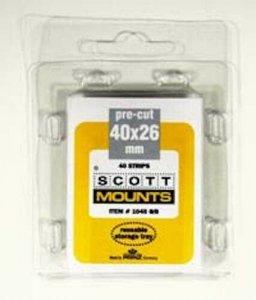 Scott/Prinz Single Horizontal Self Adhesive Stamp Mount Size 40x26 Black #1045 B