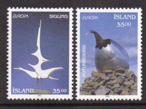 Iceland   #770-771  MNH  1993   Europa sculptures