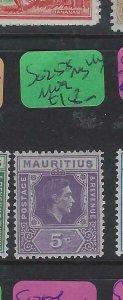 MAURITIUS (P0203BB) KGVI 5C    SG 255      MOG