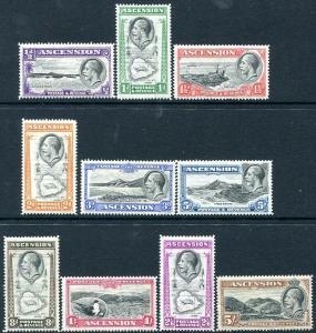ASCENSION-1934 Set to 5/- Sg 21-30 AVERAGE MOUNTED MINT V30301