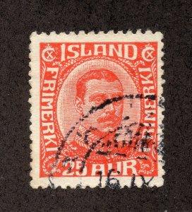 Iceland - Sc# 121 / Facit# 137 Used     /    Lot 0420723