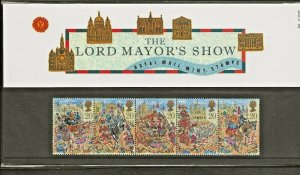 1989 LORD MAYORS SHOW PRESENTATION PACK 202