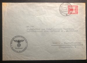 1942 Hindenburg Germany Cover To SS Dr Stellrecht Berlin