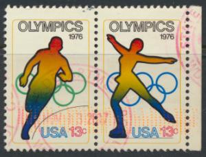 USA Used  SC# 1697-8 se-tenant pair   Olympics see details
