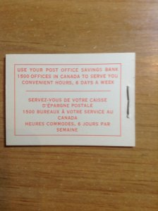 Canada BK51a complete booklet 12mm staple var 337a MF/340aDF