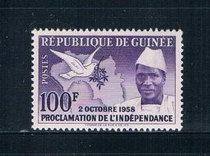 Guinea 174 MNH Map Dove and President 1959 (G0326)+