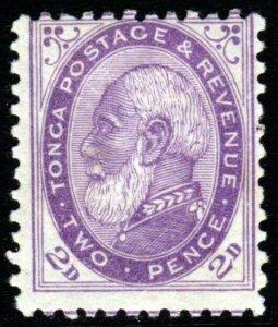 TONGA 1887 King George I  2d. Pale Violet VARIETY Perf.12x11½ SG 2b MINT