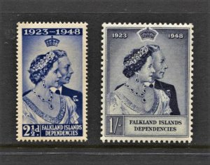 STAMP STATION PERTH -Falkland Is.Dep.#1L12 MNH OG VF Silver Wedding