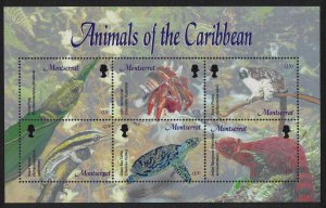 Montserrat Animals of the Caribbean MS 2003 MNH SG#MS1238