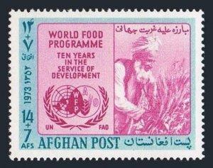 Afghanistan B91,MNH.Michel 1136. FAO 1973.World Food Program,10th Ann.Farmer.