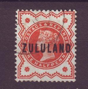 J25470 JLstamps 1888-93 zululand used #1 ovpt