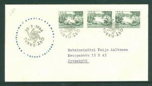 Finland. Cover 1964. Turku-Åbo. 3 x 0.05 Mk. Special Cancel. Scott # 399.  Adr.