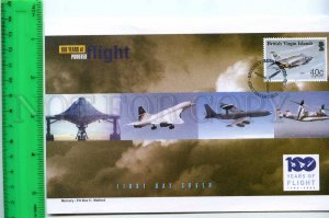 242097 BRITISH VIRGIN ISLANDS 100 years of FLIGHT PLANES 2003 year FDC