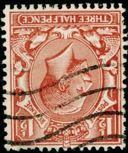 SG420Wi, 1½d red-brown, FINE USED. WMK INV