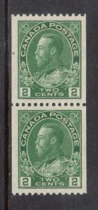 Canada #133 XF/NH Coil Pair **With Certificate**