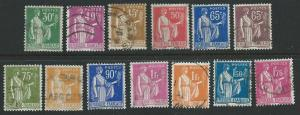France  Scott 264-283  Used  Short set
