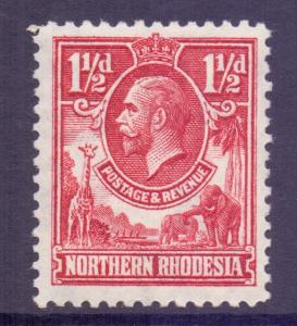 Northern Rhodesia Scott 3 - SG3, 1925 George V 1.1/2d MH*