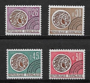 1971 France 1315-18 complete Gallic Coin set MNH
