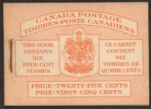 Canada USC #BK41a 1950 Bilingual Booklet 7c & 5c rates - VF-NH