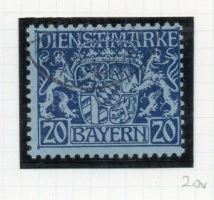 Bayern 1916 Official Early Issue Fine Used 20pf. NW-10776