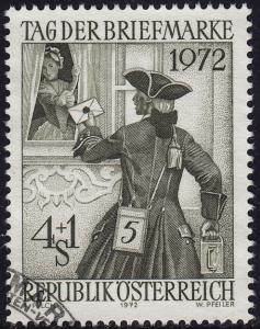 Austria - 1972 - Scott #B328 - used - Stamp Day