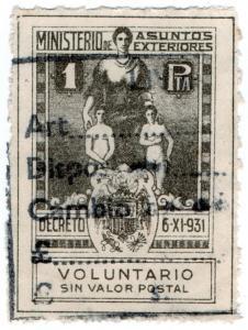 (I.B) Spain Revenue : Voluntary Contribution 1 Ptas (Passport)