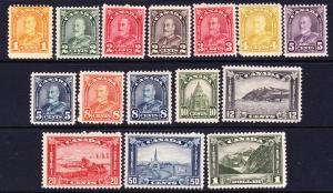 CANADA 1930-31    PICTORIALS PART SET 15  MH  Sc 162/77