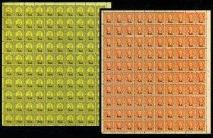 MALACK 669 - 679 1c - 10c Nebraska sheets of 100, VF..MORE.. ww2559