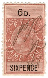 (I.B) Fiji Revenue : Stamp Duty 6d