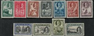 Nigeria 1936  SC 38-48 Mint CV $132.00 Set