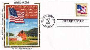 2007, American Flag, Colorano Silk, FDC (E11869)