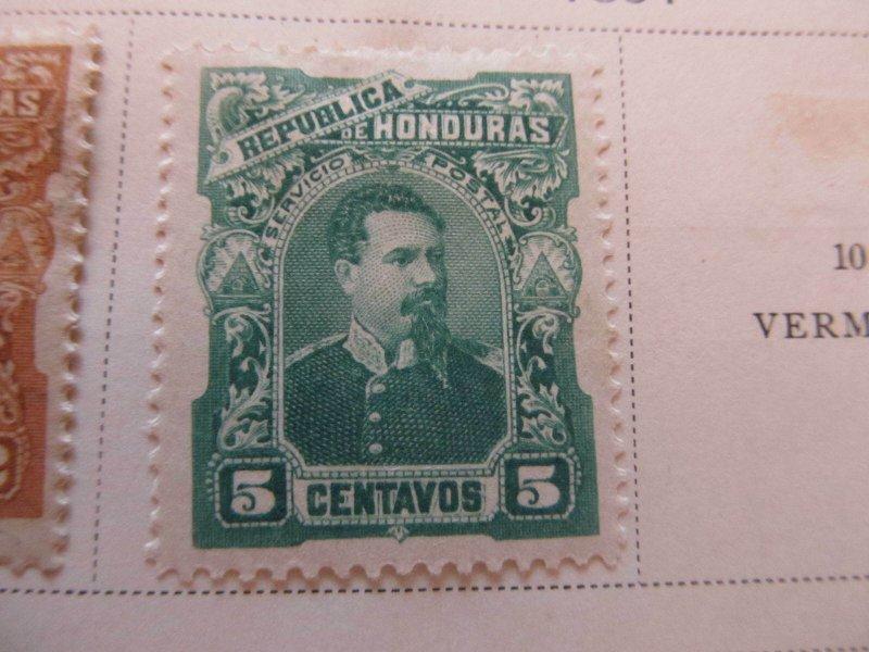 Honduras 1891 5c fine mh* stamp A11P11F3