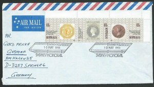 AUSTRALIA 1990 cover to Germany - nice franking - Sydney Pictorial pmk.....47313