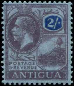 Antigua SC# 61 SG# 58 King George V 2shillings  wmk 3 MLH