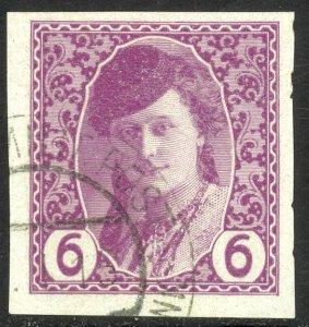 BOSNIA AND HERZEGOVINA 1913 6h BOSNIAN GIRL Newspaper Stamp Sc P2 CTO Used